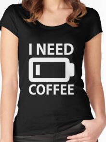I Need Coffee Women's Fitted Scoop T-Shirt