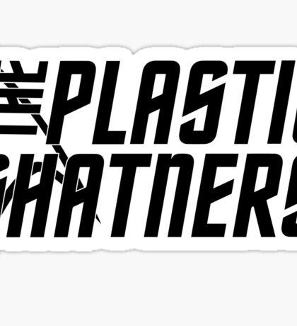 Plastic Shatners Logo Black Sticker