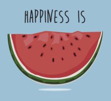 Happiness is Watermelon Kids Tee