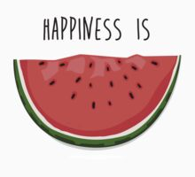 Happiness is Watermelon One Piece - Short Sleeve