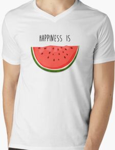 Happiness is Watermelon Mens V-Neck T-Shirt