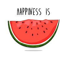 Happiness is Watermelon Photographic Print