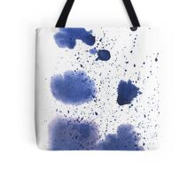 Abstract watercolor spot with blue color. Tote Bag