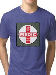 Zip Tie Medic Technician Tri-blend T-Shirt