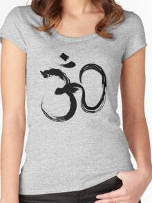 Aum Symbol - Black Edition Women's Fitted Scoop T-Shirt