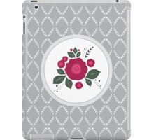 Flowers in folk stile with spikelet pattern. iPad Case/Skin