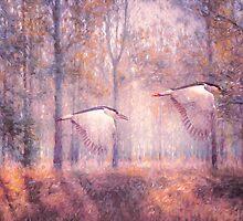 Magical Forests Impressionism Rose Quartz Tone by Georgiana Romanovna
