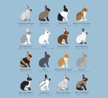 rabbits colour genetics Kids Tee
