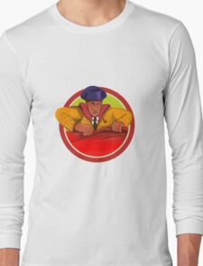 Matador Cape Front Circle Watercolor Long Sleeve T-Shirt