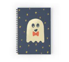 Ghost in a Bowtie Spiral Notebook