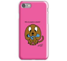 Why are puppies so playful? iPhone Case/Skin
