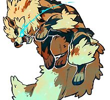 Fighting Arcanine  by PokemonSeita