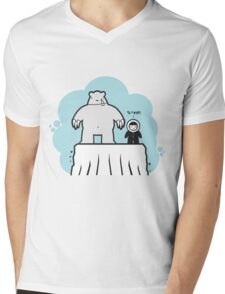Eskimo v Pola Bear Mens V-Neck T-Shirt