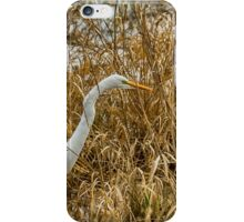 Great Egret Among the Rushes iPhone Case/Skin