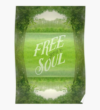 Free Your Soul Grand Canal Forest Fontainebleau Chateau Poster