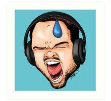 Gamer Rage Art Print