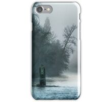 Remnant of a Washed Out Bridge on a Foggy Afternoon iPhone Case/Skin