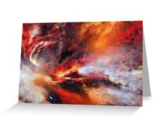 Genesis Abstract Expressionism Art Greeting Card