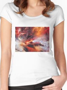 Genesis Abstract Expressionism Art Women's Fitted Scoop T-Shirt