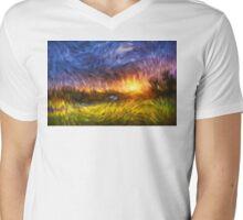 Modern Landscape Van Gogh Style Mens V-Neck T-Shirt