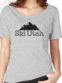 Ski Utah Vintage Mountain Design Women's Relaxed Fit T-Shirt