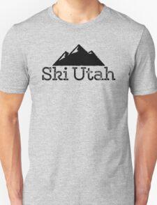 Ski Utah Vintage Mountain Design T-Shirt