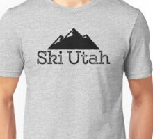 Ski Utah Vintage Mountain Design Unisex T-Shirt