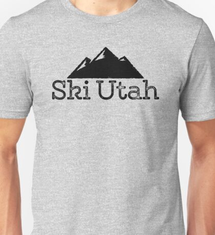 Ski Utah Vintage Mountain Design Unisex T-Shirt