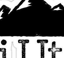 Ski Utah Vintage Mountain Design Sticker