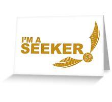 I'm a Seeker - Yellow ink Greeting Card