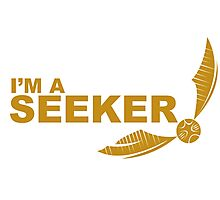 I'm a Seeker - Yellow ink Photographic Print