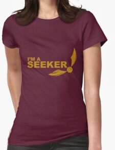 I'm a Seeker - Yellow ink Womens Fitted T-Shirt