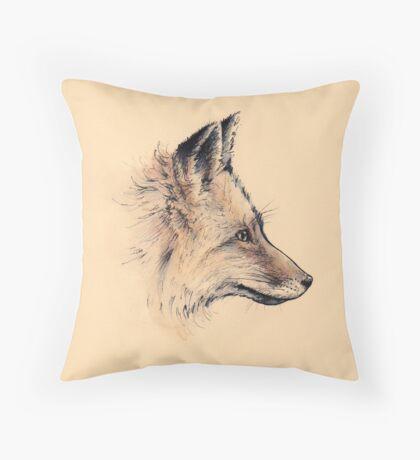 Ink Fox Throw Pillow