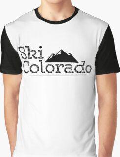 Vintage Ski Colorado Mountains Graphic T-Shirt