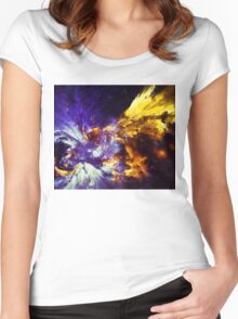 Firefly Abstract Expression Art Women's Fitted Scoop T-Shirt