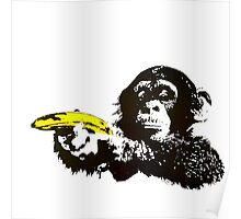 Monkey To Banana guns Poster