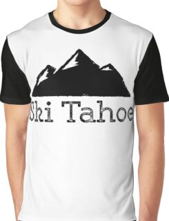 Ski Tahoe Vintage Mountain Design Graphic T-Shirt