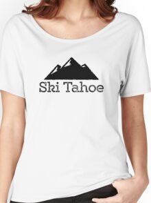 Ski Tahoe Vintage Mountain Design Women's Relaxed Fit T-Shirt