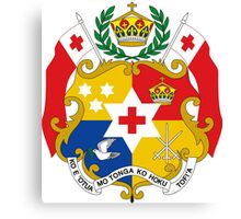 Tonga (Coat of Arms)  Canvas Print
