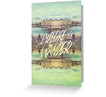 Explore & Wander Seine River Louvre Paris France Greeting Card