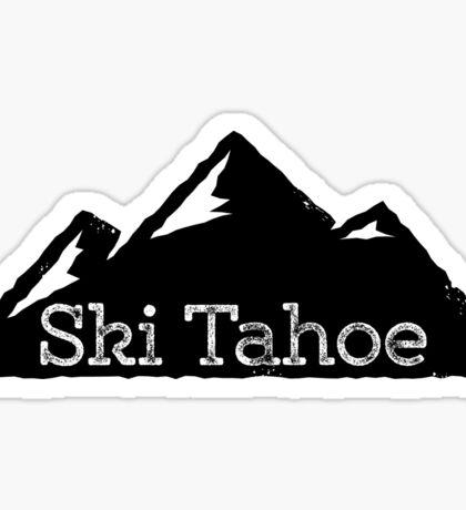 Ski Lake Tahoe Mountains Sticker