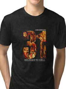 31 The Evil Clowns Horror Movie 2016 Tri-blend T-Shirt