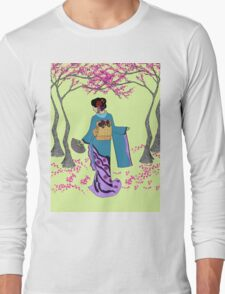 Among the Cherry Blossoms Long Sleeve T-Shirt