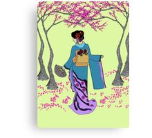 Among the Cherry Blossoms Canvas Print