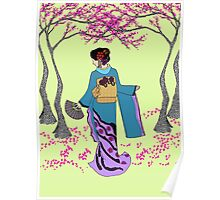 Among the Cherry Blossoms Poster