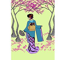 Among the Cherry Blossoms Photographic Print