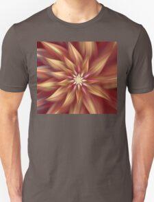 Beautiful Dahlia Abstract Unisex T-Shirt