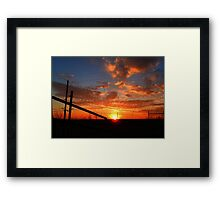 SHADES OF AMBER Framed Print