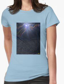 LIVE IN THE RIVER OF LIFE Womens Fitted T-Shirt