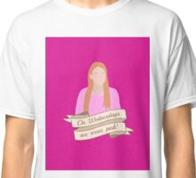 On Wednesdays We Wear Pink Hipster | Pink Classic T-Shirt